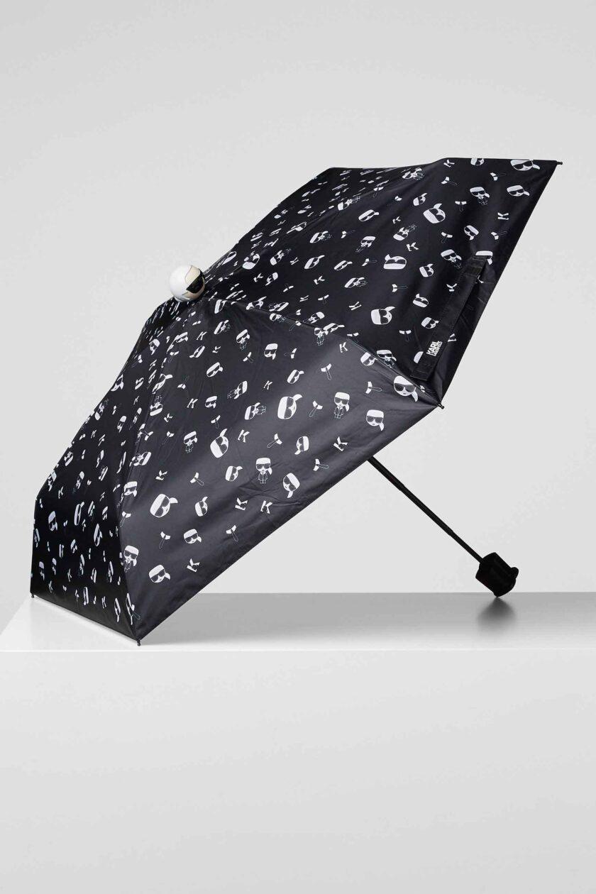 Paraguas de la marca Karl Lagerfeld Negro
