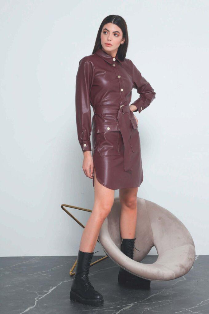 Vestido de la marca QGuapa Milano Granate