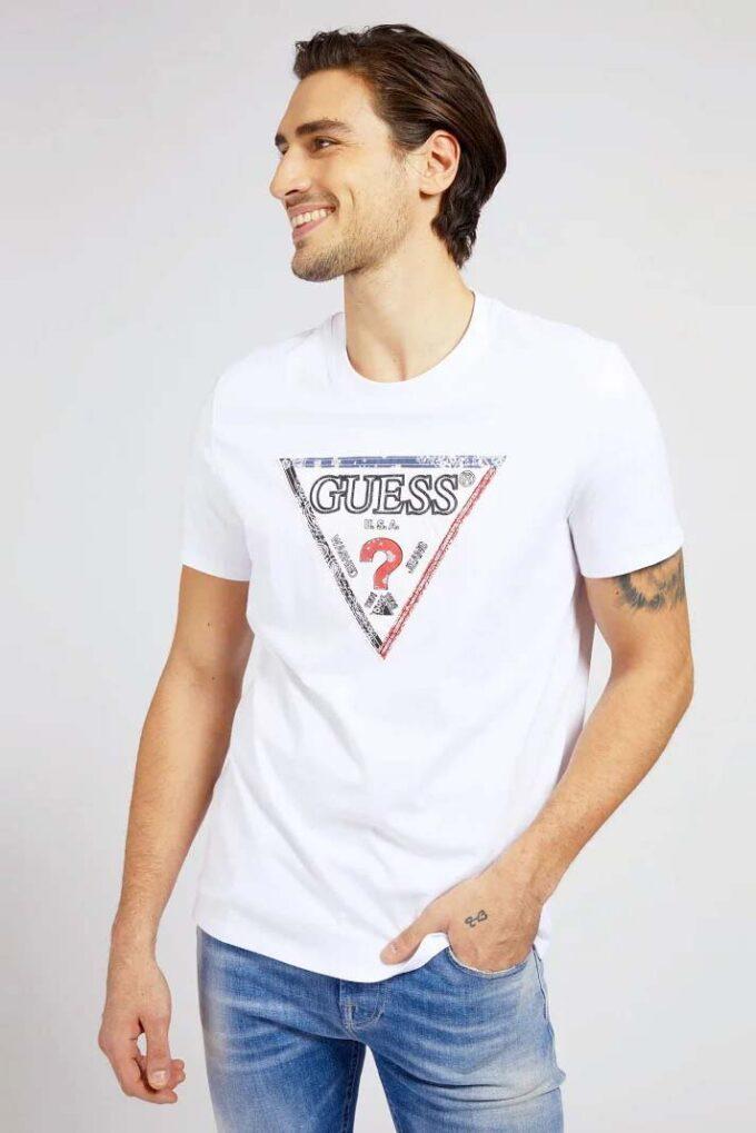 Camiseta de la marca Guess Jeans Blanco
