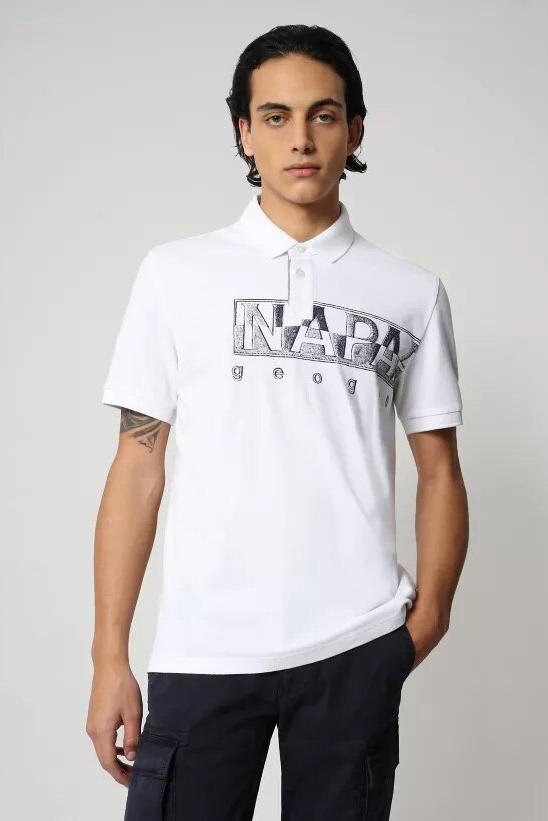 Polo de la marca Napapijri Blanco