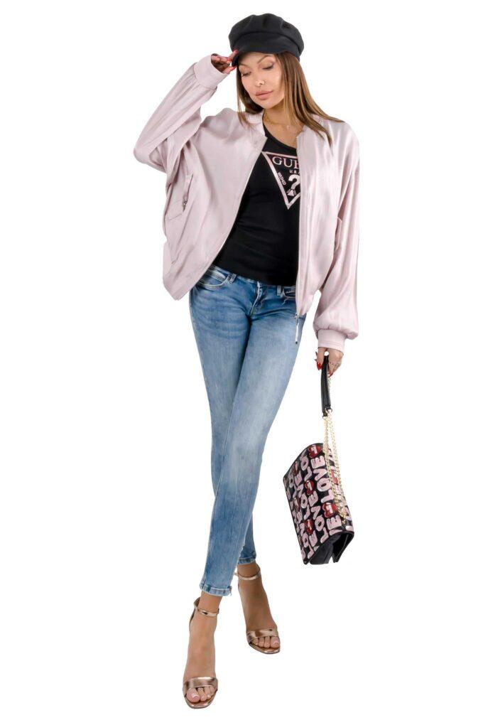 Chaqueta de la marca Guess Jeans Rosa