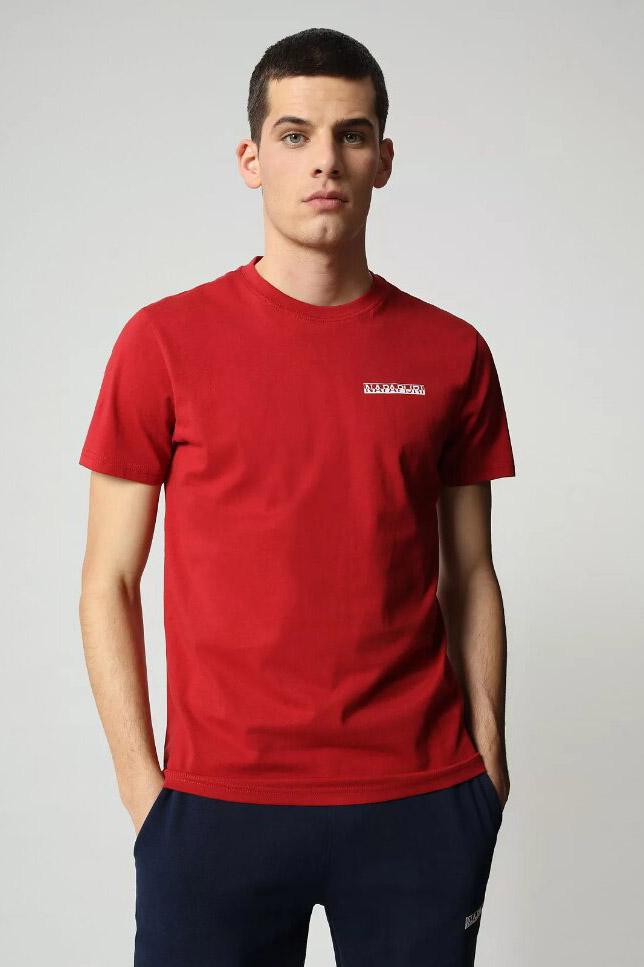 Camiseta de la marca Napapijri Rojo