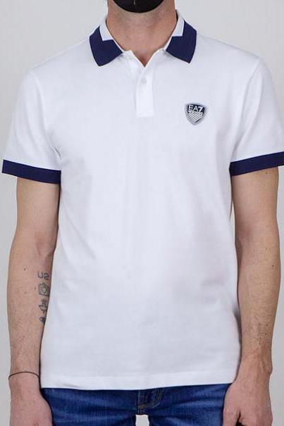 Polo de la marca EA7 Blanco