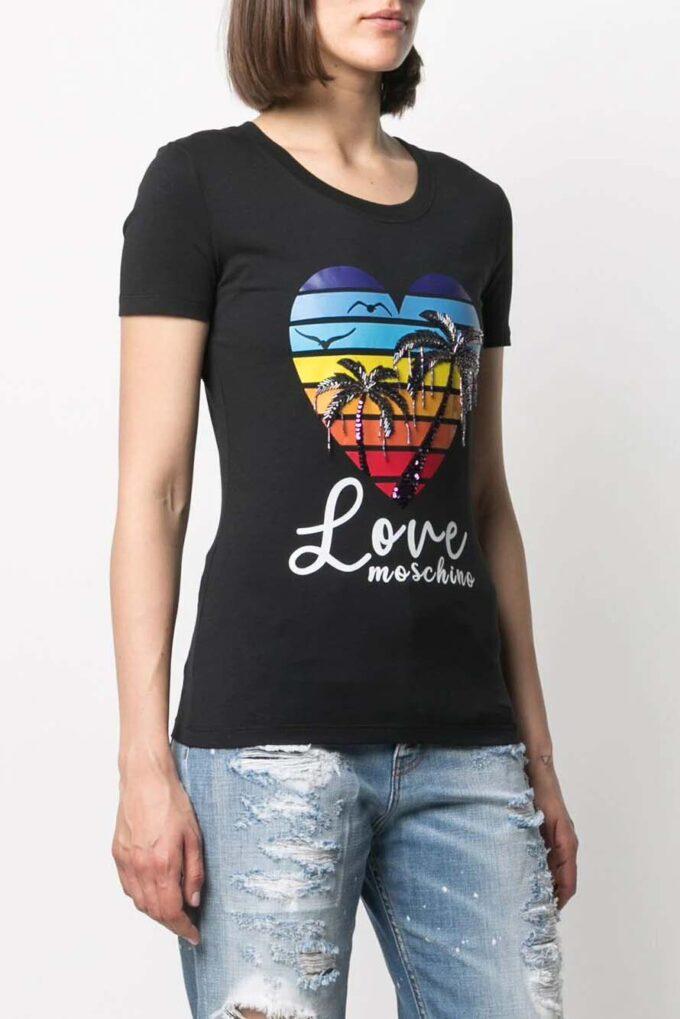 Camiseta de la marca Love Moschino Negro