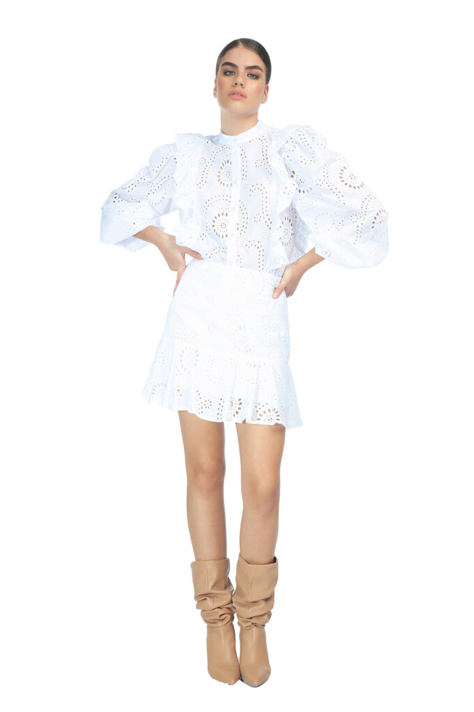 Falda de la marca QGuapa Milano Blanco
