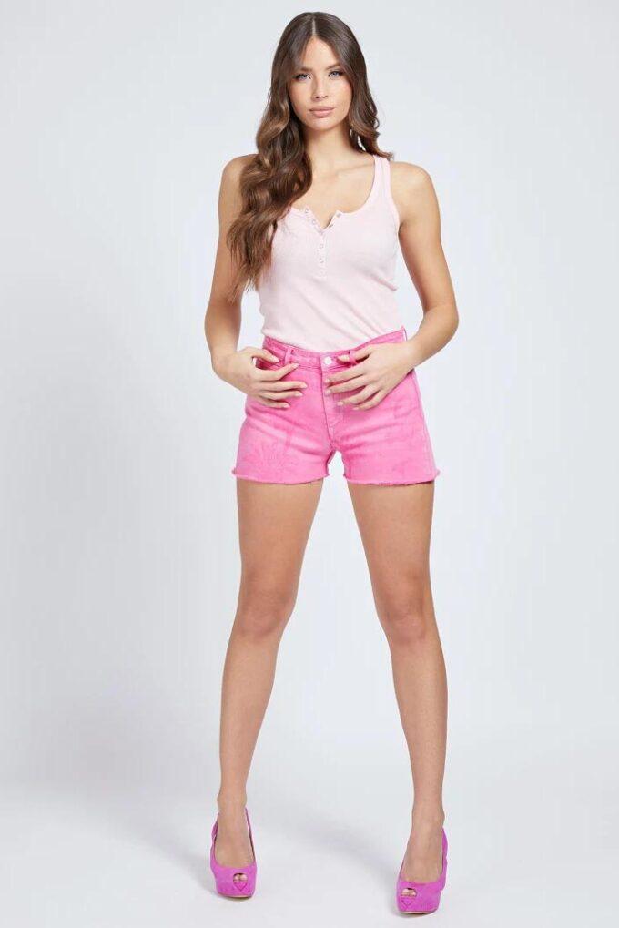 Short de la marca Guess Jeans Rosa
