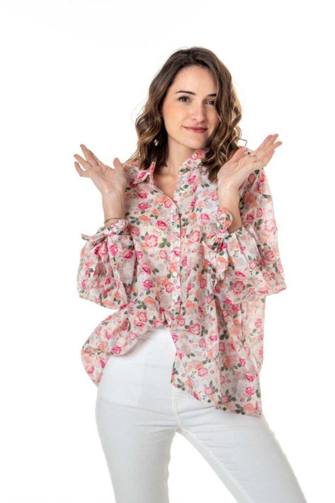 Camisa de la marca Guess Jeans Rosa