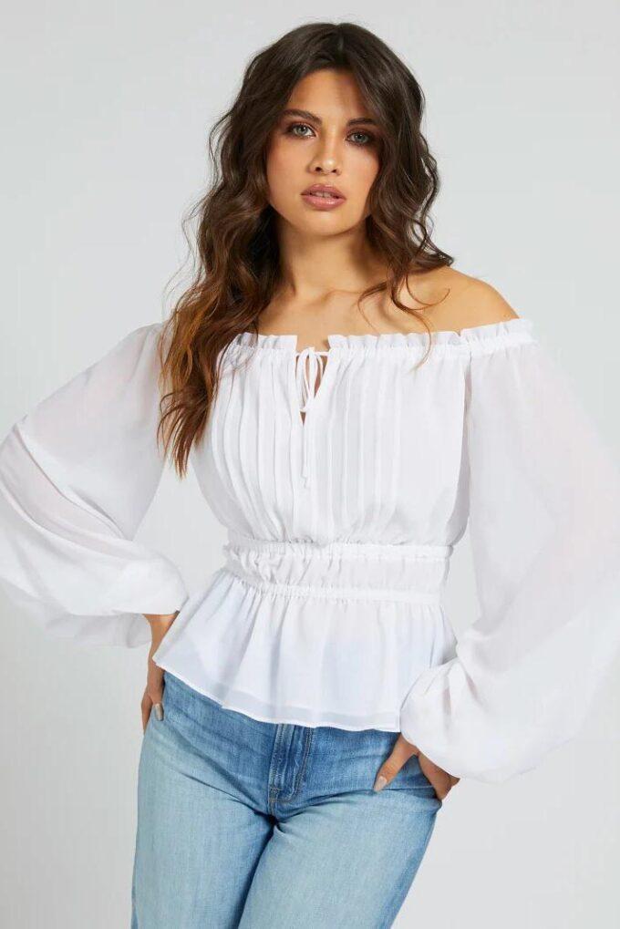 Camisa de la marca Guess Jeans Blanco