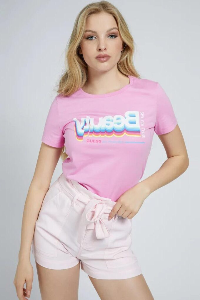 Camiseta de la marca Guess Jeans Rosa