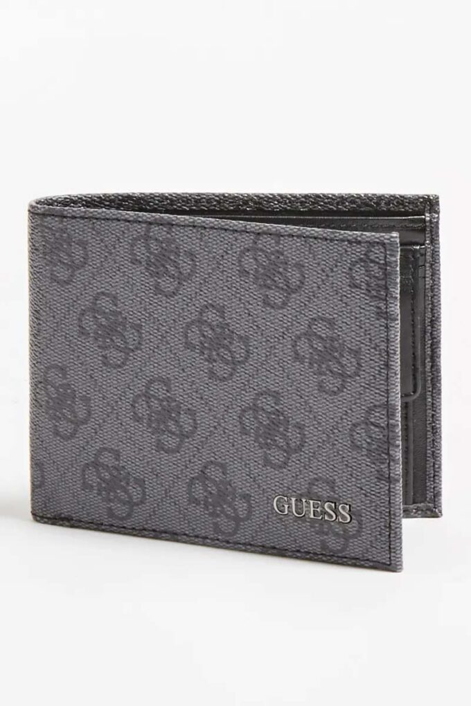 Billetera de la marca Guess Acc Negro