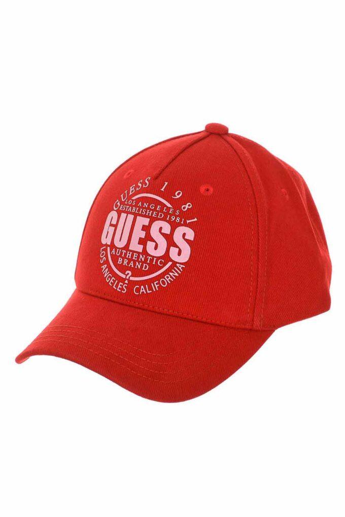 Sombrero de la marca Guess Acc Rojo