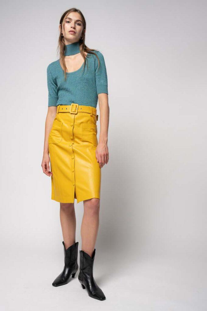 Falda de la marca Pinko Amarillo