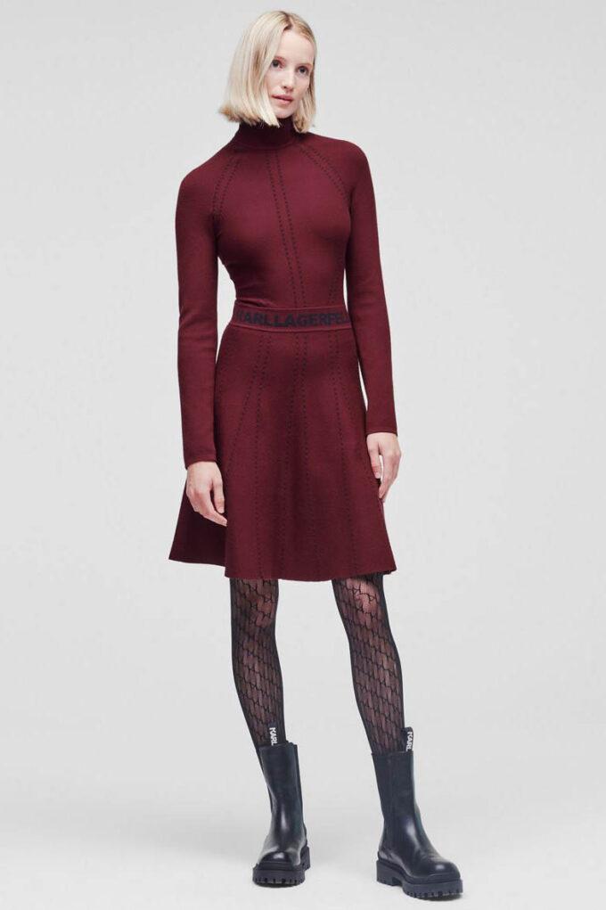 Vestido de la marca Karl Lagerfeld Granate