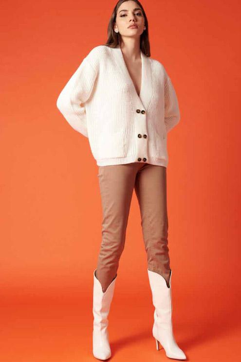 Cárdigan de la marca QGuapa Milano Blanco