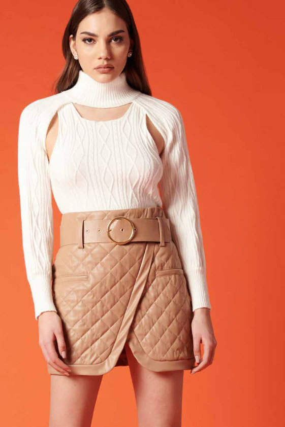 Falda de la marca QGuapa Milano Beige