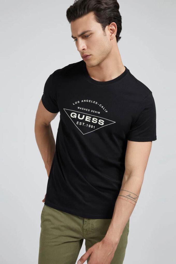 Camiseta de la marca Guess Jeans Negro